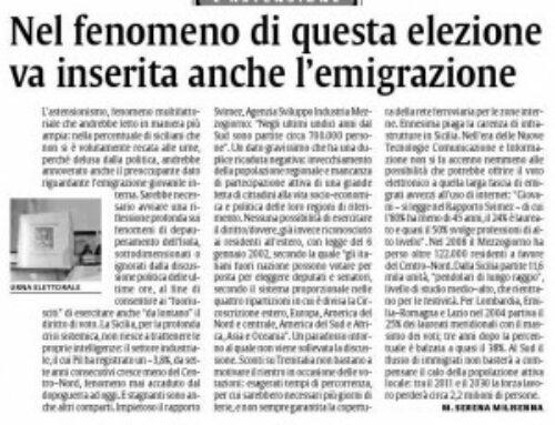 Due articoli su quotidiano La Sicilia